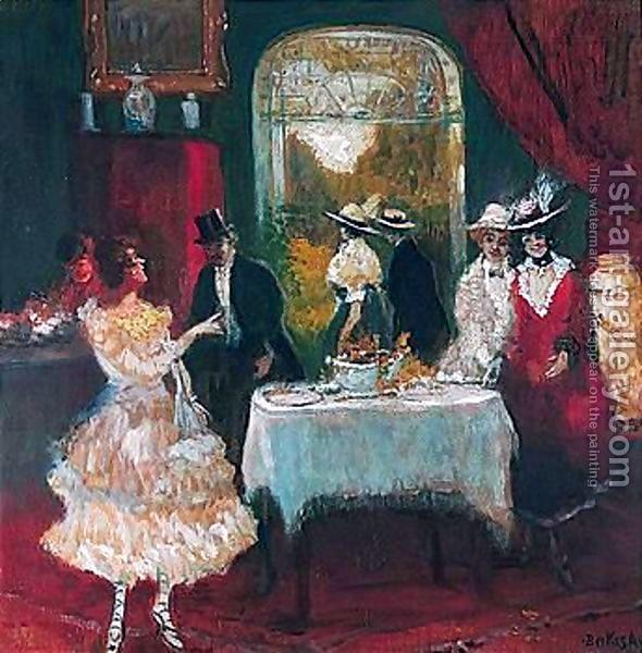 Antal Berkes (1874-1938) - The Dinner Party