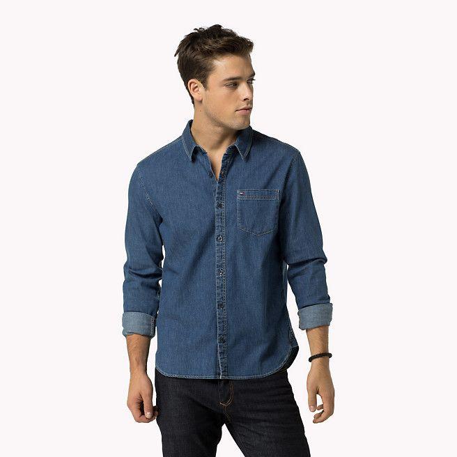 Hilfiger Denim Slim Fit Overhemd - vintage stretch indigo dark (Blauw) - Hilfiger Denim Casual Overhemden - hoofdbeeld