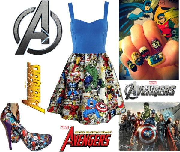 """Avengers :)"" by niki398 LOL! Love the idea of superhero themed clothes!"