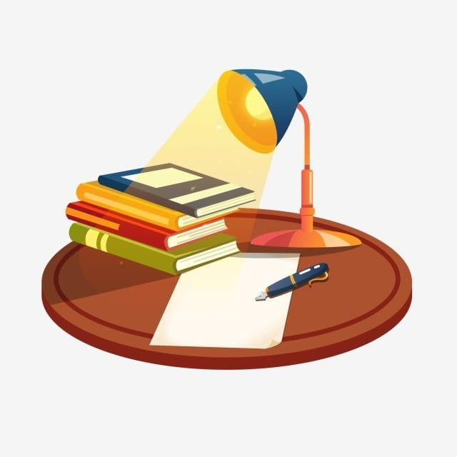 Desk Stationery Book Lamp Learning Is Commercially Available Png And Psd Book Lamp Book Stationery Desk Stationery