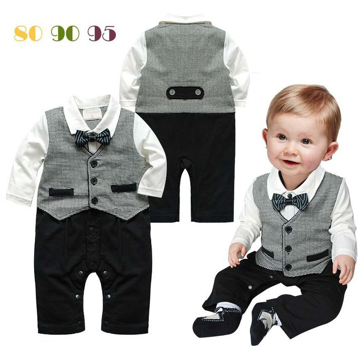 free shipping Baby Romper New Baby boys Romper Gentleman ...
