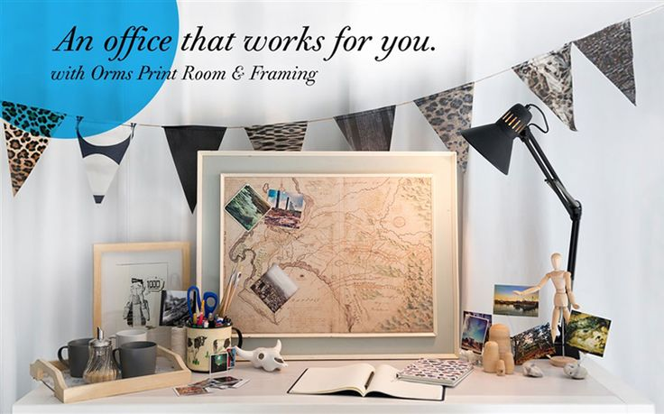 An office that works for you - create yours with Orms Print Room and Framing ideas! http://www.ormsprintroom.co.za/promotions