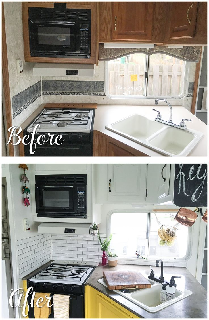 Diy rv interiors - Before And After Pictures Of A Rv Kitchen Renovation