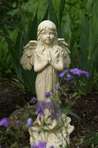 garden angel statue ideas, flowers, gardening, One of my garden angels