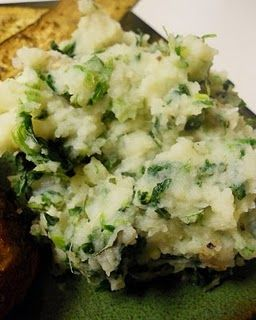 Garlic Spinach Mashed Potatoes | Food for thought | Pinterest