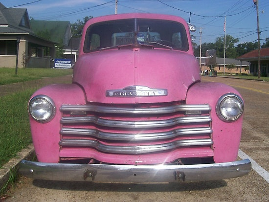 1950's Pink Chevy truck