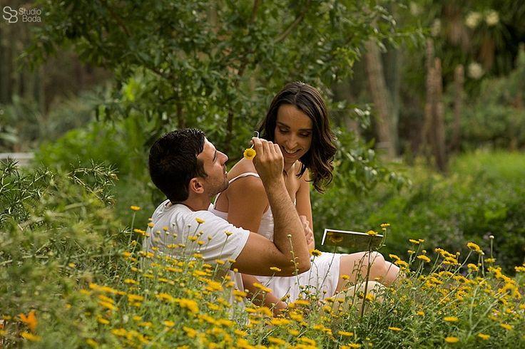 reportaje pre boda en jardin botanico