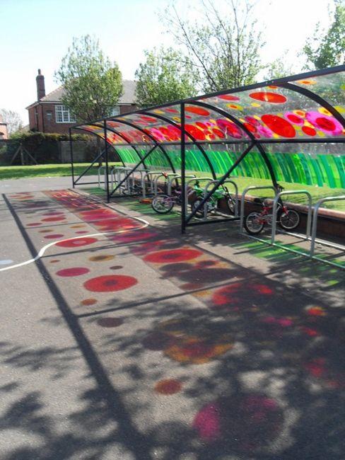 Steel Canopy Bike Shelter