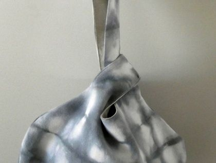 Japanese knot bag in silver blue