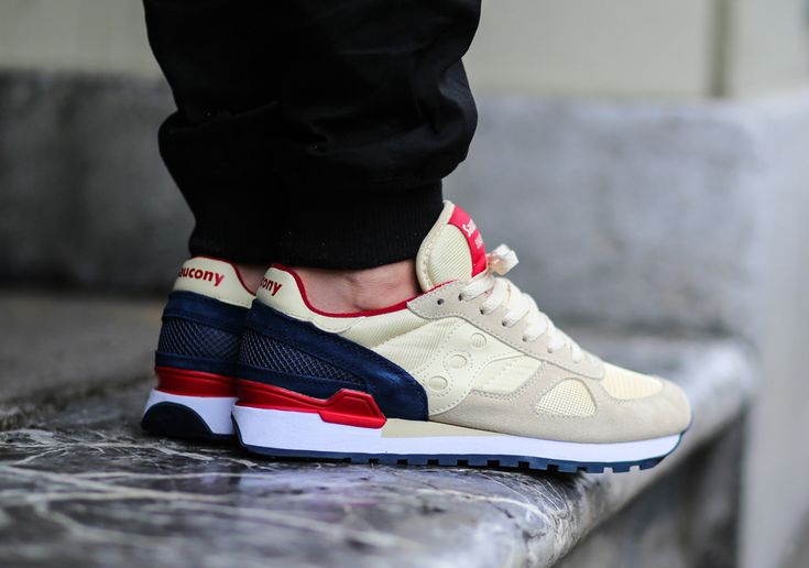 Saucony Shadow Original - Cream - Navy - Red - SneakerNews.com