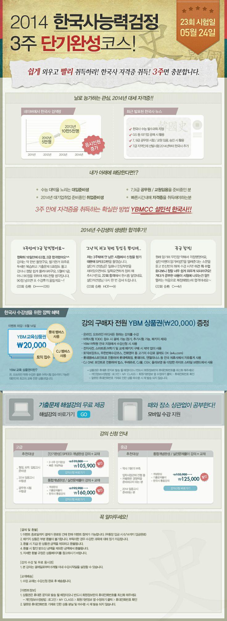 [YBM CC] 2014 한국사능력검정 3주 단기완성코스 (이영실)