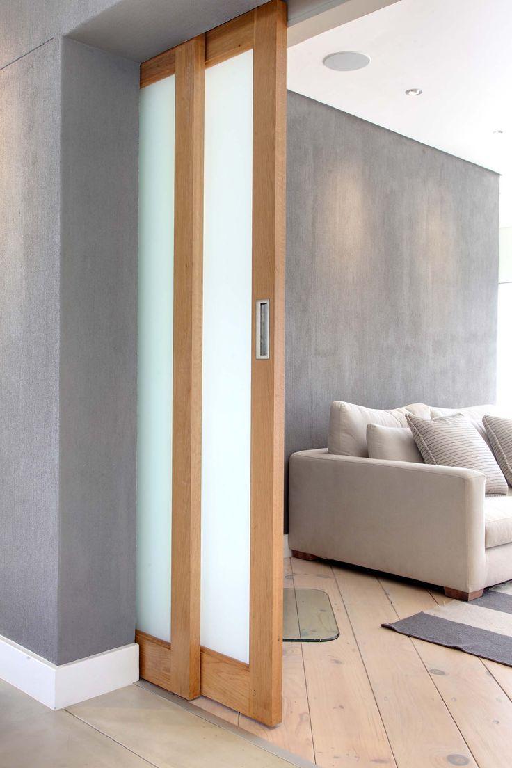 Oak sliding door