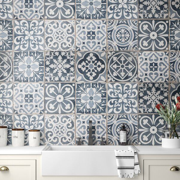 Faventie 13 X 13 Ceramic Field Tile Tiles Tiles For Sale Blue Tiles