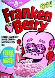 Frankenberry Cereal...was the best. THEY STILL MAKE THIS...I saw it in the grocery store the other day and did a double take!