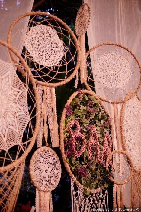 Dale un toque vinatge a tu boda con esta decoración #atrapasueños #crochet #decoración #vintage #boda #matrimonio #wedding #decoration #decorationideas #love #dreamcatcher