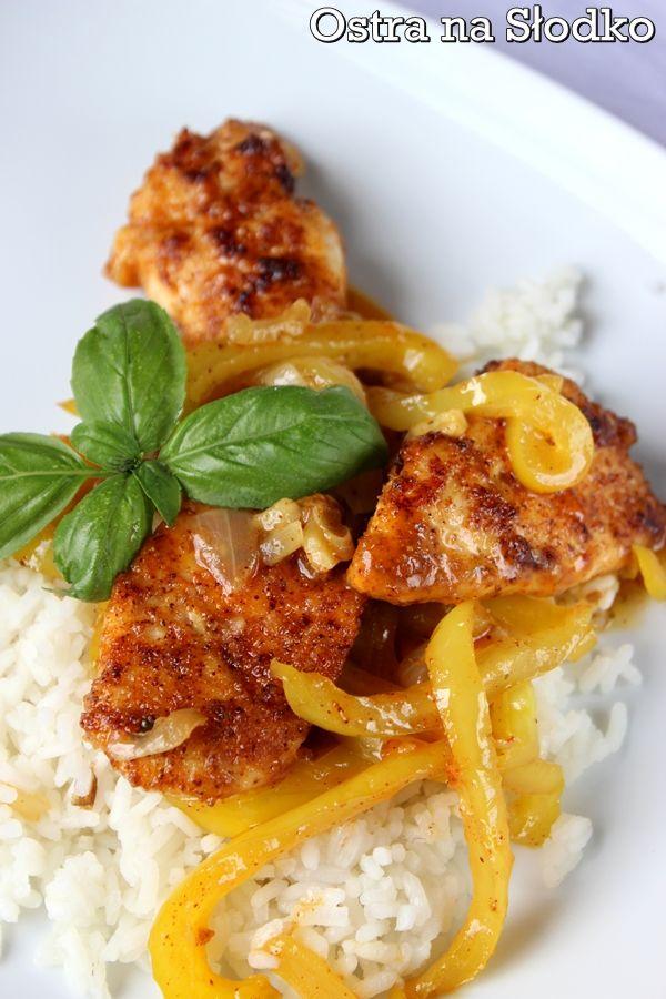 kurczak po kreolsku , kurczak z papryka , sczysty kurczak , pyszny kurczak , tanio obiad , szybki obiad , ostra na slodko (2)xxx