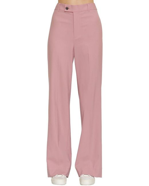 3c42f3746b Women's Pink Loose Fit Wool Wide Leg Pants in 2019 | I need breast ...