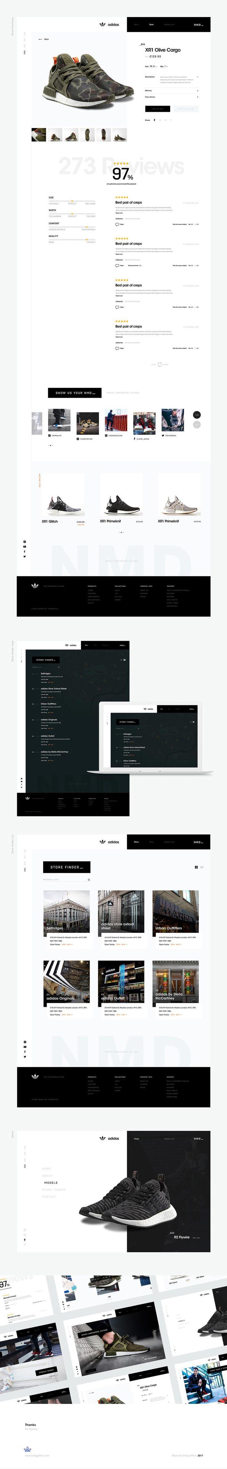 Adidas Website Concept - Behance #ui #ux#userexperience #website #webdesign #design