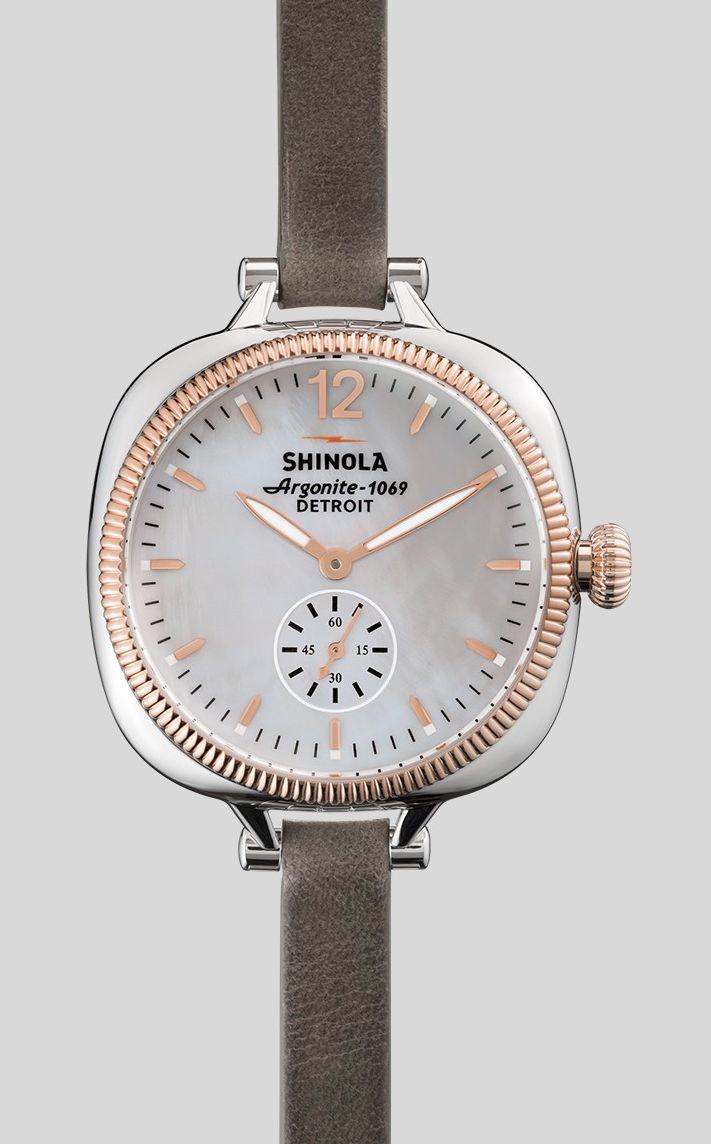 Grey + Rose Gold Watch