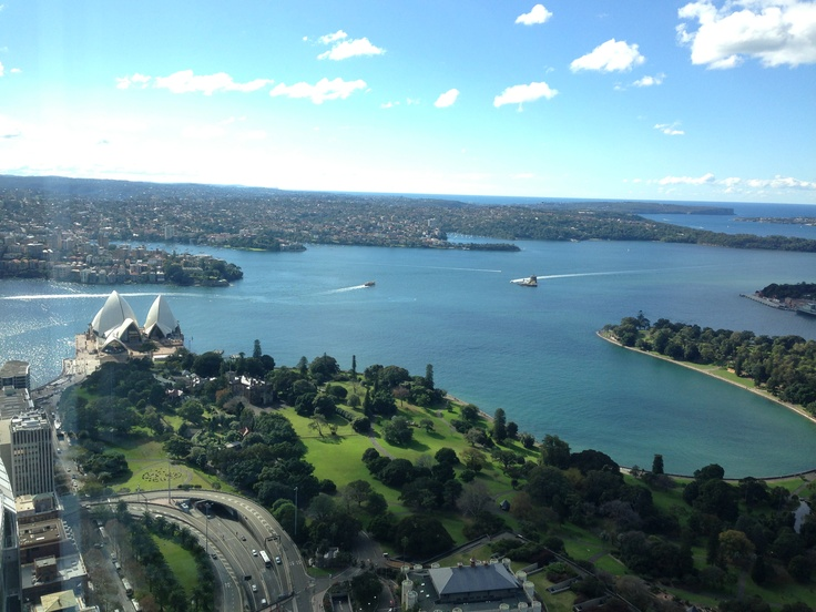 Winter in Sydney from atop Chifley Tower