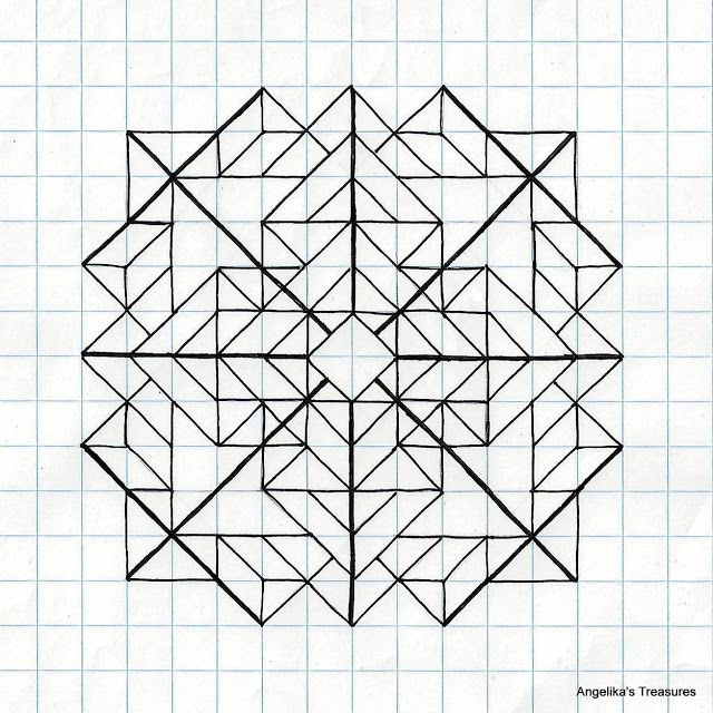 angelika u0026 39 s treasures  5  diamonds paper art  graph paper