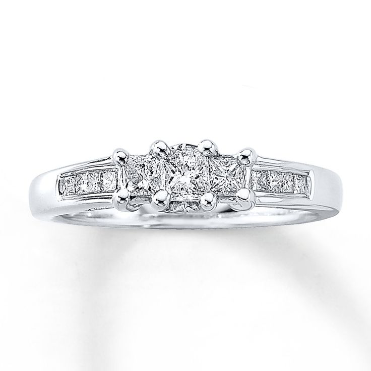58 best Jewelry images on Pinterest Round diamonds White gold