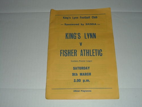 Home to Fisher Athletic  09/03/85   Southern League