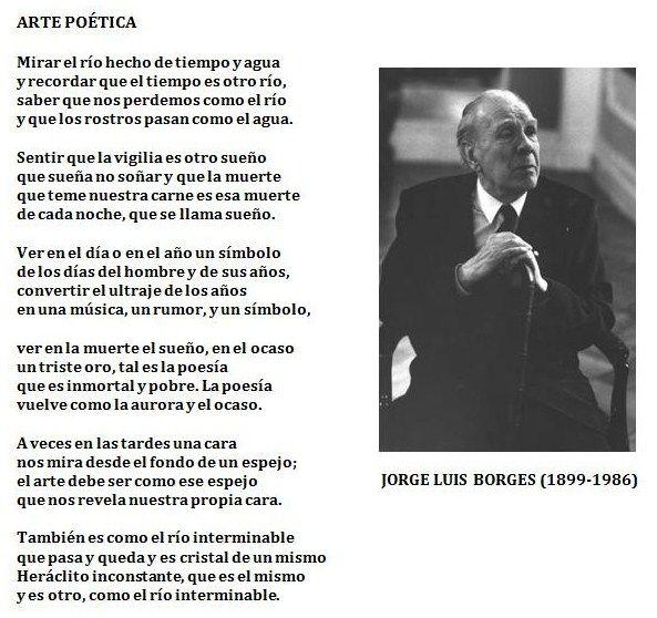 Arte poética, de Jorge Luis Borges.
