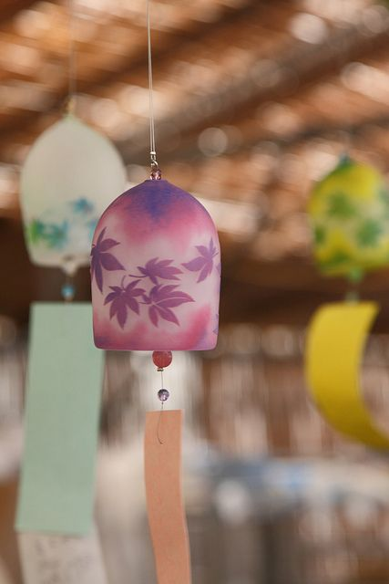 wind bell market in Kawasakidaishi. This is similar to the one that I bought.
