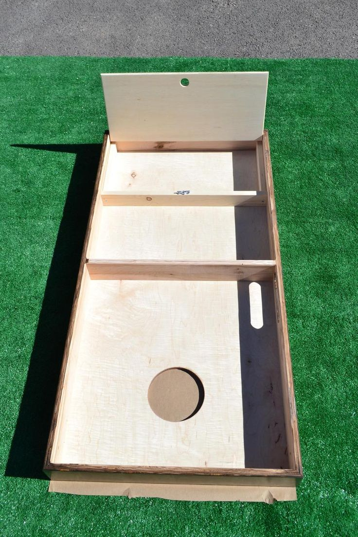 Addon Storage cubby for bags on Full Size Cornhole