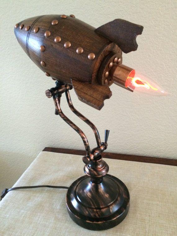 retro rocket desk lamp by artbug@etsy $21o