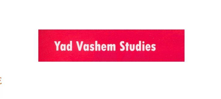 Wide yad vashem studies