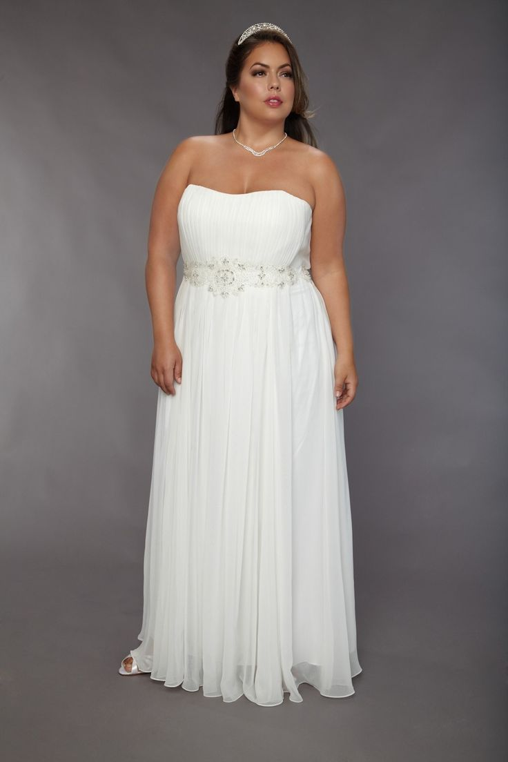 wedding dress hire cape town northern suburbs%0A      Chiffon Sweetheart Neckline Empire Waist Ruched Bodice Plus Size Wedding  Gown with Beading Embellishment on Waist