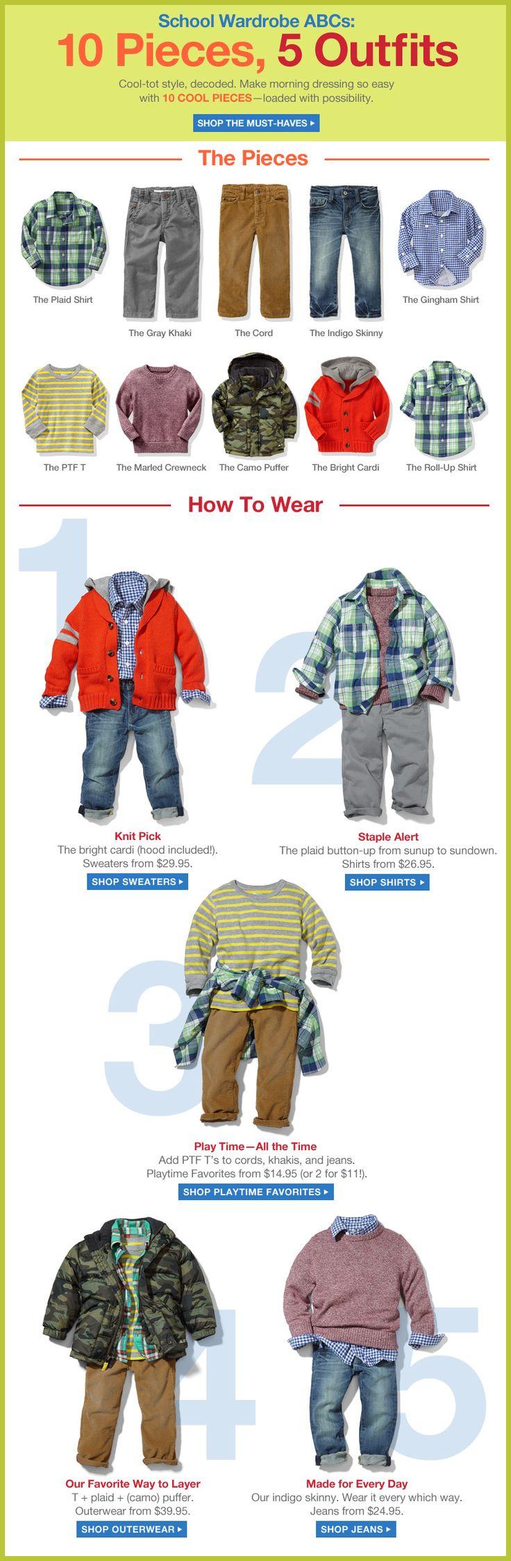 Looks for fall 2013 for toddler boys, Gap.com