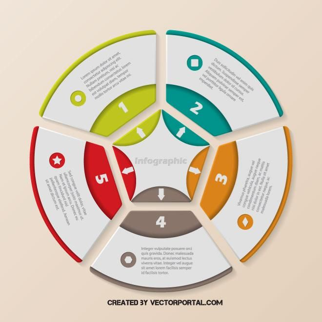 Infographics pie chart template