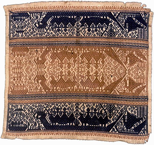 Tampan / ceremonial cloth: Kalianda area, South Sumatra, Indonesia, 19th c.