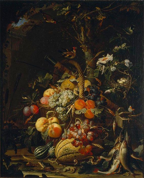 Абрахам Миньон (1640-1679) — Плоды. 1670-е. Санкт-Петербург. Государственный Эрмитаж.