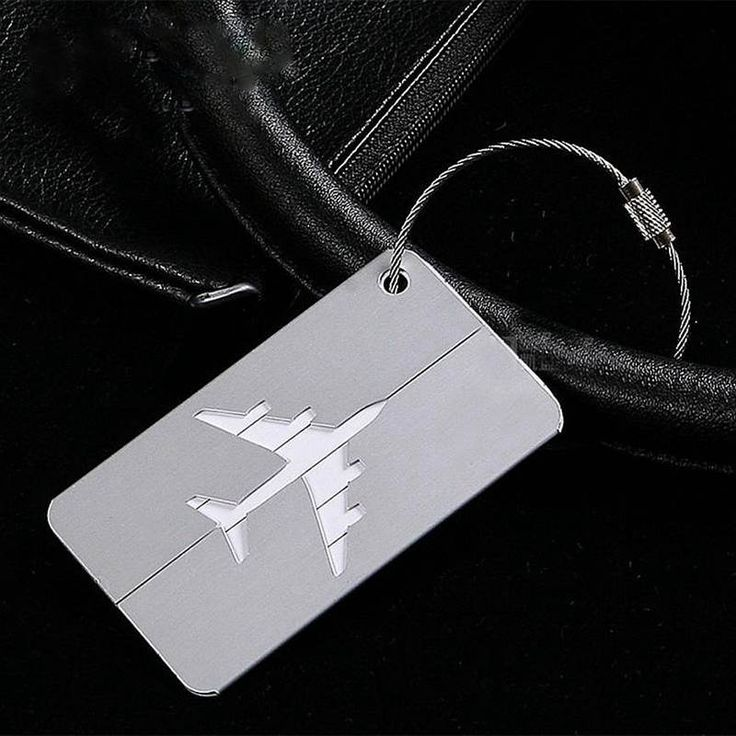 Metal Luggage Tags For Men Travel Luggage Label Straps Kids Cute Women Aluminum Stainless Steel Suitcase Leather Accessorles
