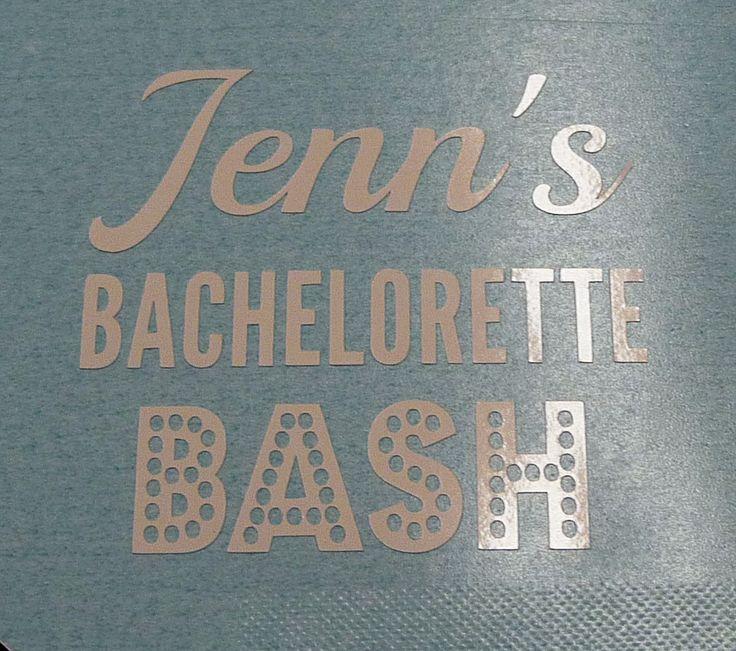 Custom bachelorette party favor decals