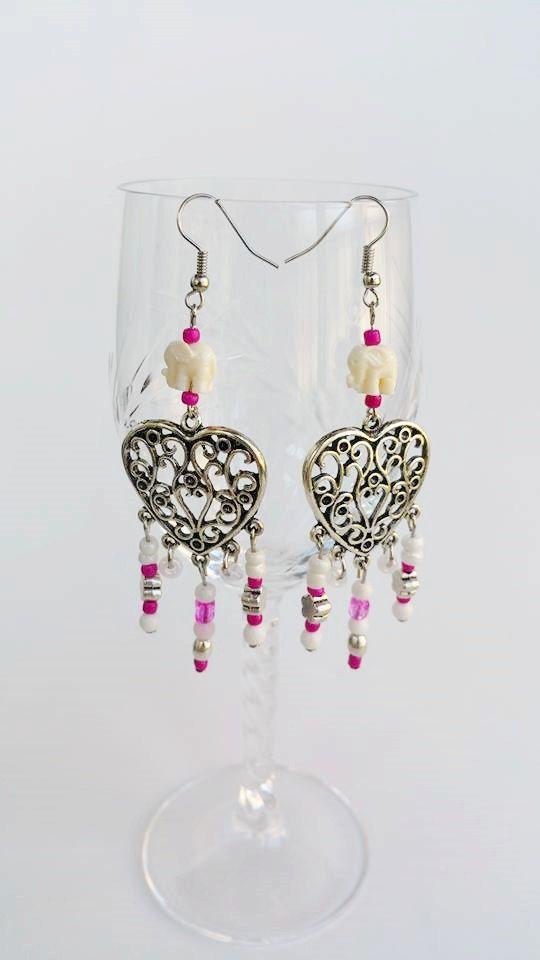 Statement beaded chandelier earrings  Bohemian by TresJoliePT  #PinoftheDay