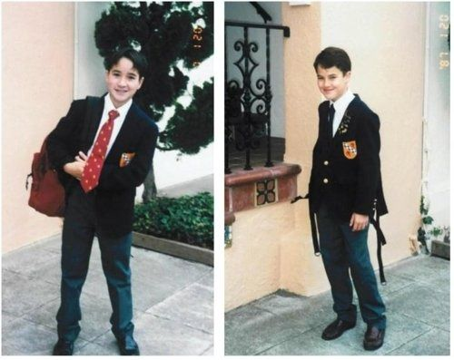 Young Darren Criss....he really was a warbler.  lol