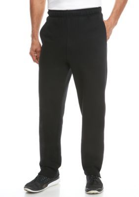 Saddlebred Men's Big & Tall Basic Fleece Pants - Black - 2Xlt