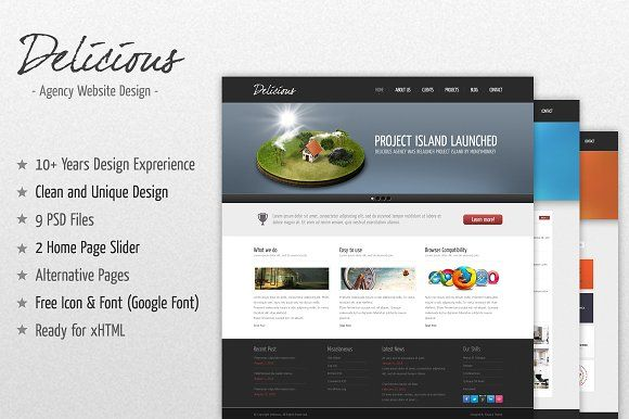 Delicious Agency Website by IQSIR on @creativemarket