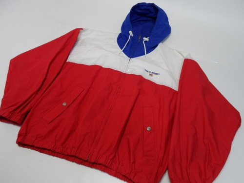 VTG 90's POLO SPORT RALPH LAUREN USA Red White Blue Zip Jacket M | eBay