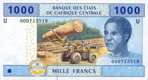 Economics: This is a 1000 dollar bill. These may not exist in the United States, but they do in the DRC. The name of the bill is Mille Francs.