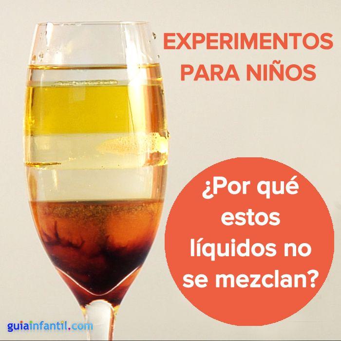 ¿Por qué no se mezclan estos líquidos? ¡Haz este experimento! http://www.guiainfantil.com/articulos/ocio/manualidades/como-hacer-un-coctel-arcoiris-experimentos-para-ninos/