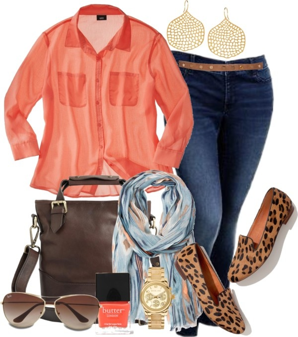 """""""Coral Fall - Plus Size"""" by alexawebb ❤ liked on Polyvore 