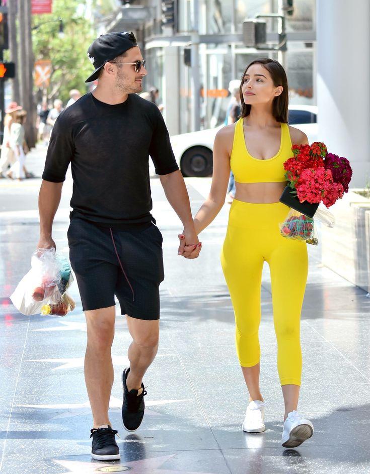 Olivia Culpo and Danny Amendola #streetstyle