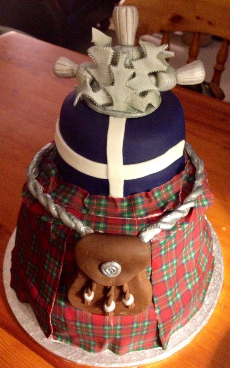 Kilt Birthday Cake