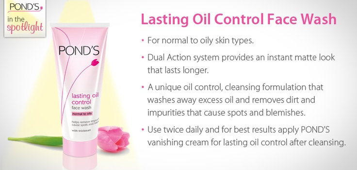 Lasting Oil Control Face Wash. Remember, it's important to cleanse your skin everyday and a facial wash is a great way to do this.